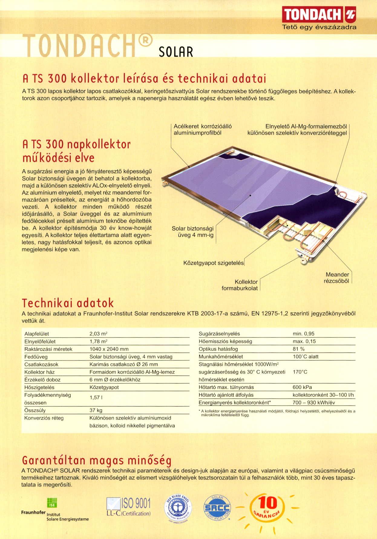 Tondach Solar Naptető